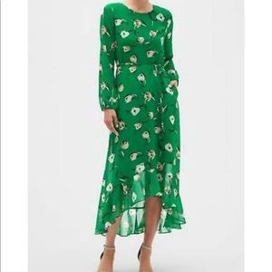 Floral Print Tiered Maxi Dress with pockets